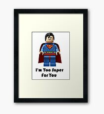 Super ! Framed Print