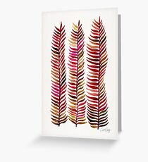 Red Stems Greeting Card
