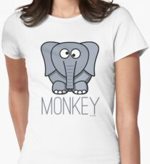 Funny Monkey Elephant Design T-Shirt