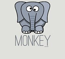 Funny Monkey Elephant Design Womens Fitted T-Shirt
