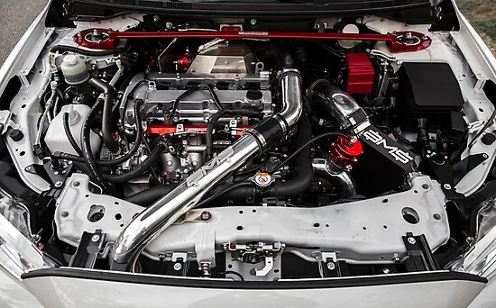 Quot Evo X Engine Bay Quot Photographic Print By Mikekuhnracing