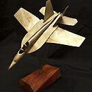 F18 Fighter Plane BC 94113 by Brian Cox