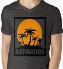 BARBADOS Mens V-Neck T-Shirt