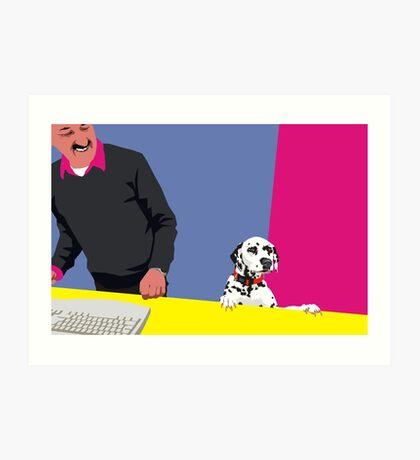 How may I help you? Art Print