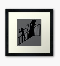 Buffy VS Count Orlok! Framed Print