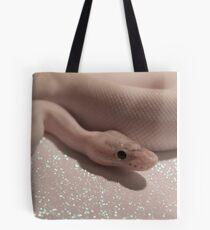 Ivory on Glitter Tote Bag