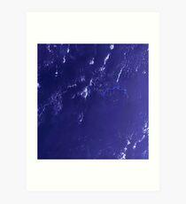 Marshall Islands Bikini Atoll Satellite Image Art Print