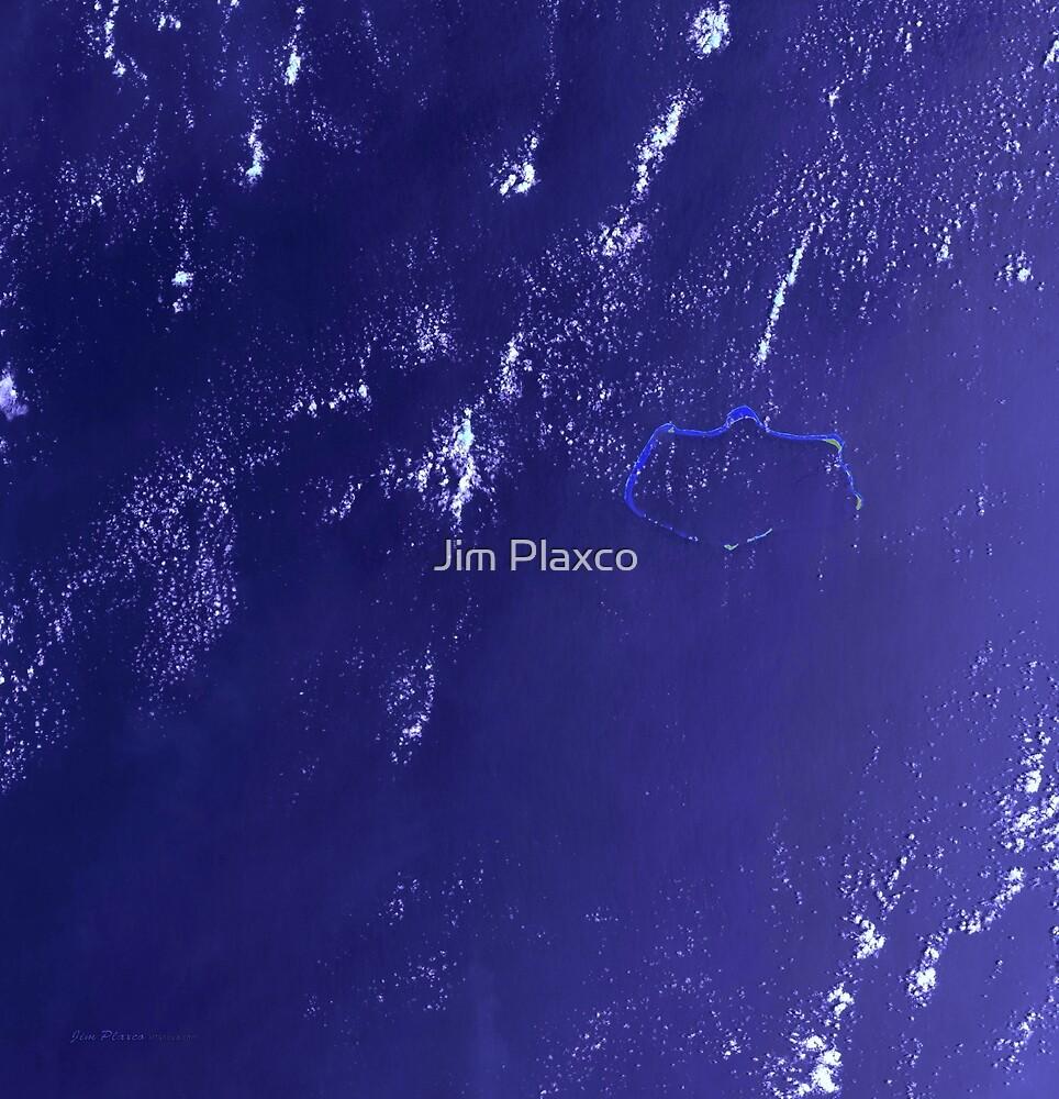 Marshall Islands Bikini Atoll Satellite Image by Jim Plaxco