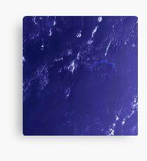 Marshall Islands Bikini Atoll Satellite Image Canvas Print