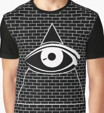 All Seeing Eye (White/Black) Graphic T-Shirt