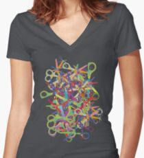 Cut. Women's Fitted V-Neck T-Shirt