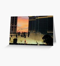 BELLAGIO FOUNTAINS from afar  ^ Greeting Card