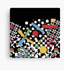 Ticker Tape Geometric Canvas Print