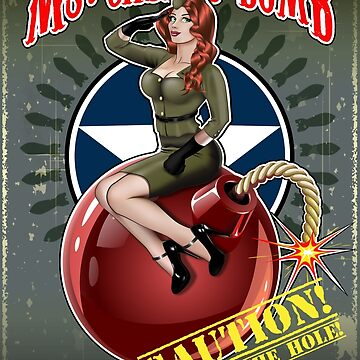 Ms. Cherry Bomb - Military Pin Up Girl Airplane Nose WWII Nose Graphic by nealw6971