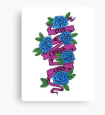 roses with scrolls.. live laugh love Canvas Print