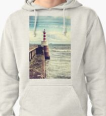 Amble Pier Lighthouse Pullover Hoodie