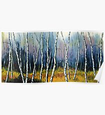 Winter Reverie by Lisa Elley. Palette knife painting in oil  Poster