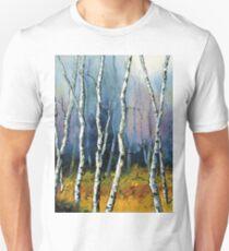 Winter Reverie by Lisa Elley. Palette knife painting in oil  Unisex T-Shirt