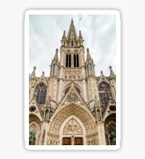 Beautiful cathedral church in Nancy, France,summertime Sticker