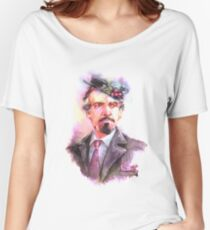 Watercolor Delgado!Master 2 transparent version Women's Relaxed Fit T-Shirt