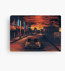 Back To The Future Version 2 Canvas Print