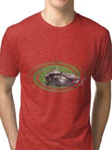 Peek A Boo with a Cheetah Tri-blend T-Shirt