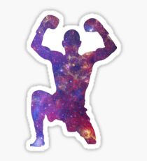 Muay Thai Fighter Colorful Sticker