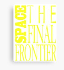 Space, the Final Frontier Canvas Print