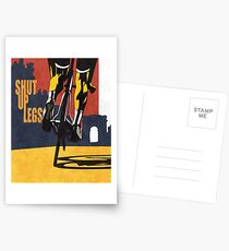retro styled Tour de France cycling illustration poster print: SHUT UP LEGS Postcards