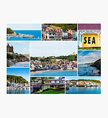 Photo collage with panoramic images from Scarborough, North Yorkshire, England Photographic Print