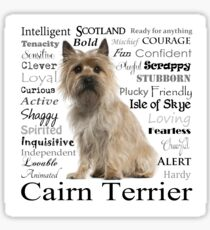 Cairn Terrier Traits Sticker
