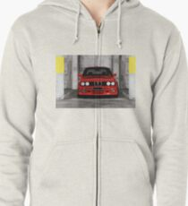 Red Sports Car - Front Zipped Hoodie