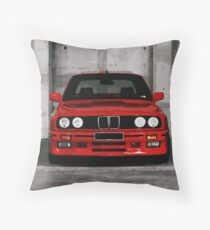 Red Sports Car - Front Throw Pillow