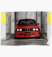 Red Sports Car - Front Poster