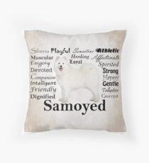 Samoyed Traits Throw Pillow