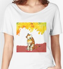 Calvin and Hobbes Hugs Women's Relaxed Fit T-Shirt