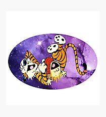 Calvin and Hobbes Laugh Photographic Print