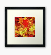 Hot Random Abstract Shapes: Maps & Apps Series Framed Print