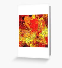 Hot Random Abstract Shapes: Maps & Apps Series Greeting Card