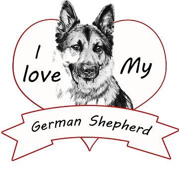 I love my German Shepherd by craigio2778