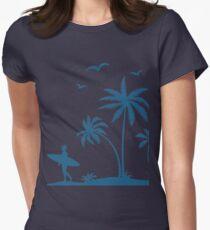 Beautiful Surfer Boy on the beach at sunset T-Shirt