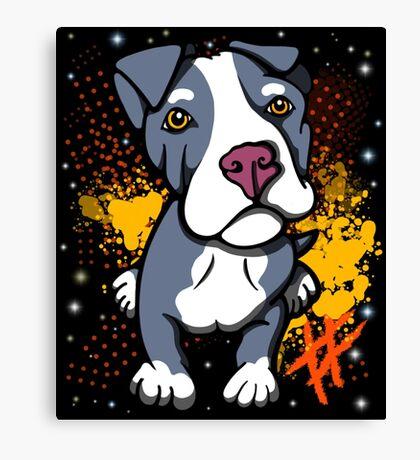 Blue Pit Bull Pup  Canvas Print