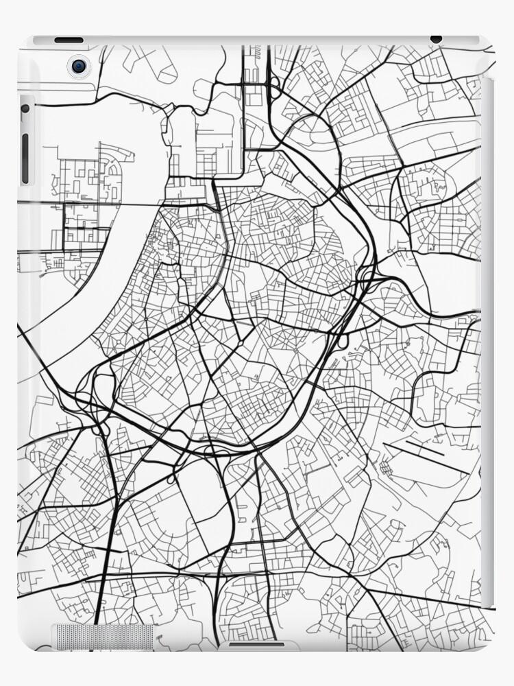 Carte Belgique Noir Et Blanc.Coque Et Skin Adhesive Ipad Carte D Anvers Belgique Noir Et Blanc Par Mainstreetmaps