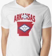 Arkansas Flag USA t-shirt Men's V-Neck T-Shirt