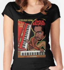 Jackie Mittoo The Keyboard King Women's Fitted Scoop T-Shirt