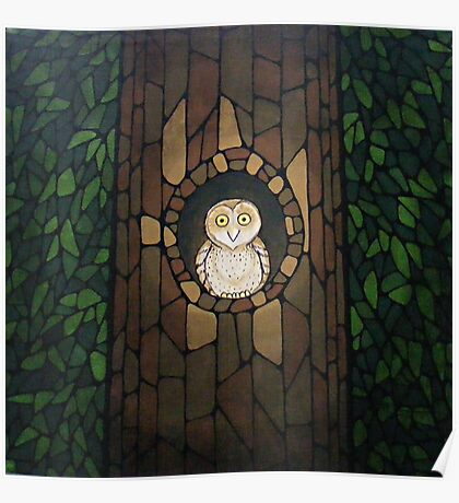 Masked Owl by Lantern Light Poster