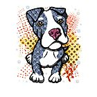 Blue Pit Bull Puppy Graphic by Sookiesooker