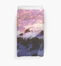 Flaming Snow Duvet Cover