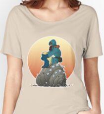 Nausicaa & baby Ohmu taking a break... Women's Relaxed Fit T-Shirt