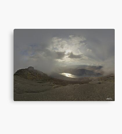 Panoramic View from Slieve Binnian Canvas Print
